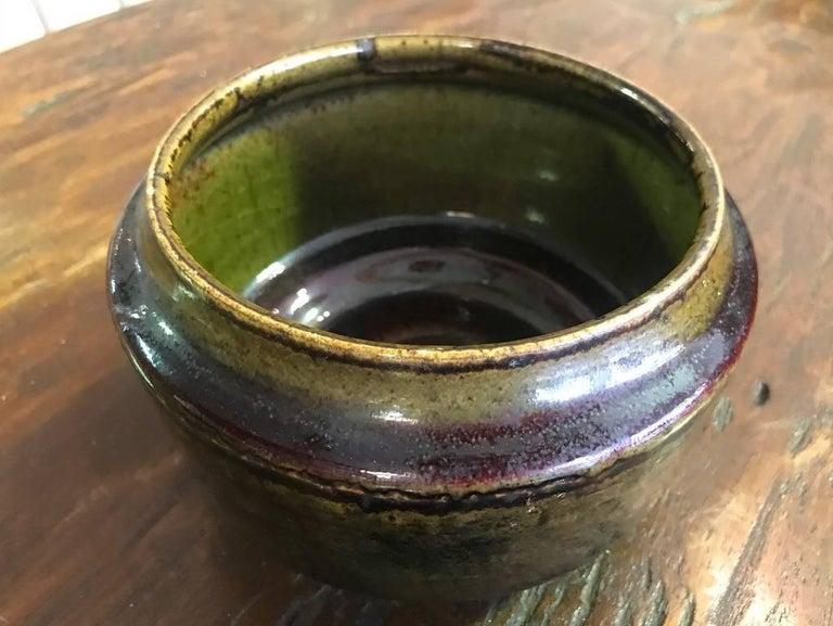 Late 20th Century Edith Sonne Bruun Lidded Ceramic Vessel/ Bowl for Bing & Grøndahl, Denmark For Sale