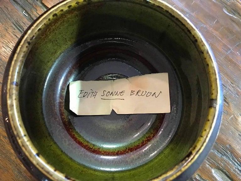 Edith Sonne Bruun Lidded Ceramic Vessel/ Bowl for Bing & Grøndahl, Denmark For Sale 2