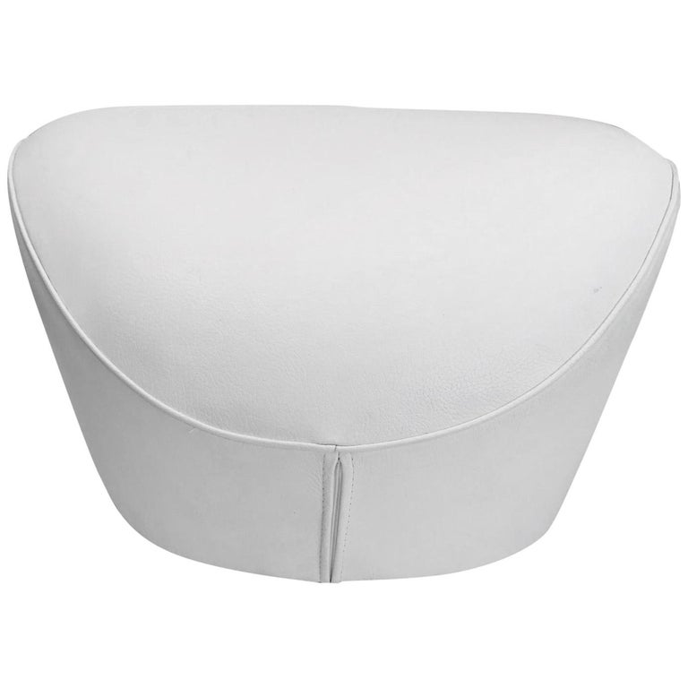 Incredible Edito Modernist White Leather Ottoman By Roche Bobois At 1Stdibs Squirreltailoven Fun Painted Chair Ideas Images Squirreltailovenorg