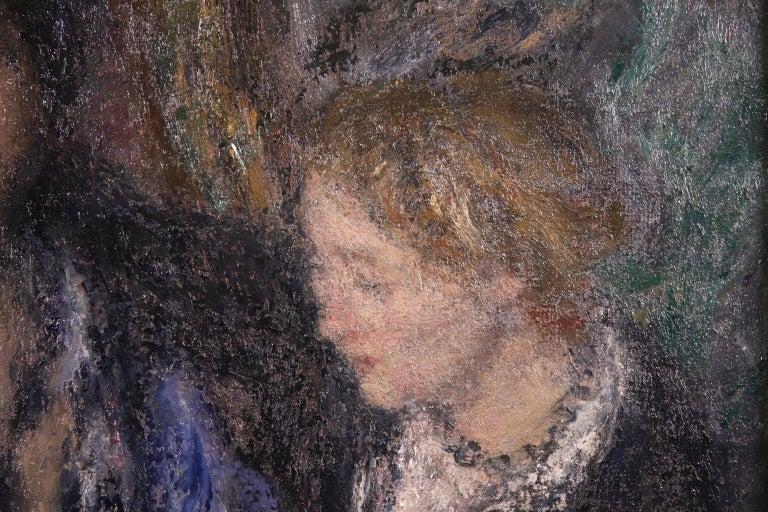 Elegant Women - Impressionist Oil, Figures in Interior Edmond Francois Aman-Jean For Sale 7