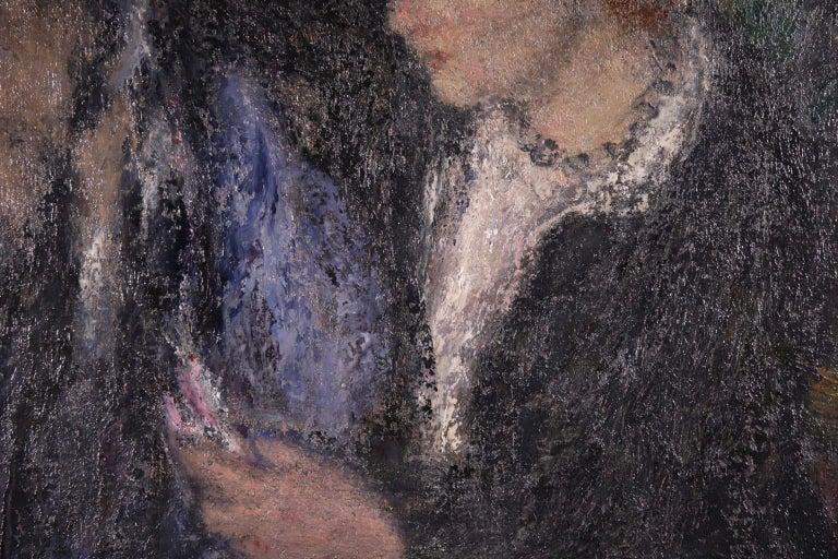 Elegant Women - Impressionist Oil, Figures in Interior Edmond Francois Aman-Jean For Sale 2