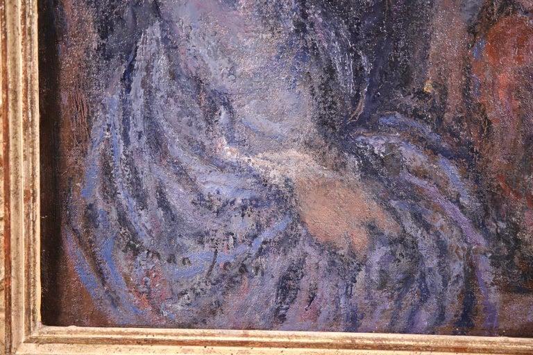 Elegant Women - Impressionist Oil, Figures in Interior Edmond Francois Aman-Jean For Sale 3