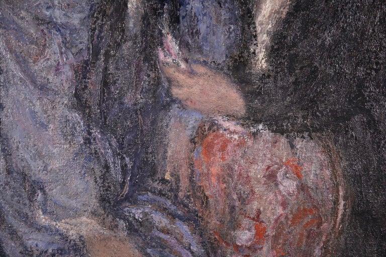 Elegant Women - Impressionist Oil, Figures in Interior Edmond Francois Aman-Jean For Sale 5