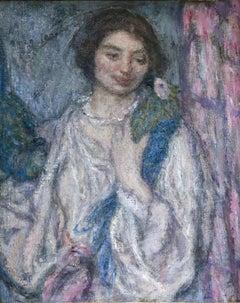 Jeune Fille avec Perroquet