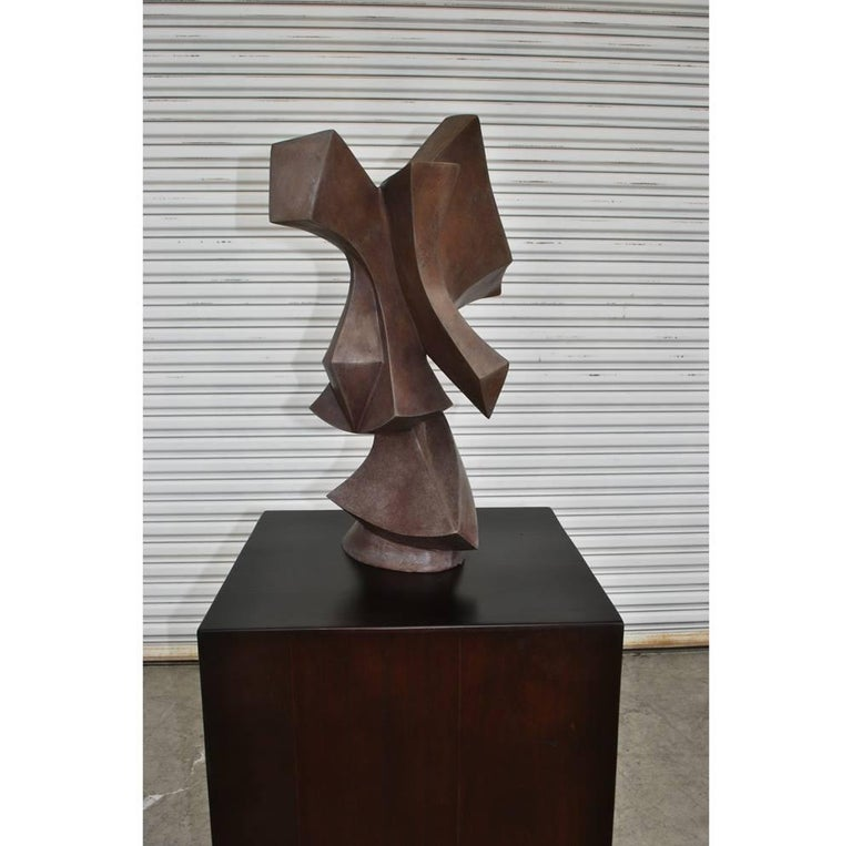 Composition Edmond Casarella Soaring Sculpture on Pedestal Base   For Sale