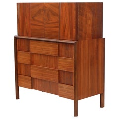 Edmond J Spence Mid-Century Modern Highboy Dresser