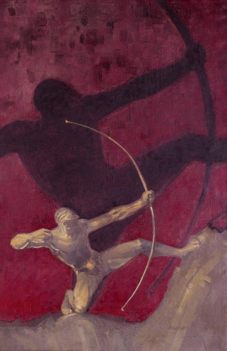 Edmond Maurus Figurative Painting - Heracles de Bourdelle (Hercules)
