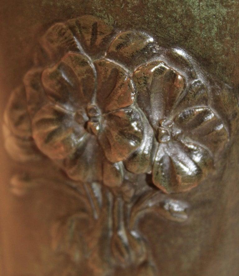 Edmond Moreau-Sauve Signed Bronze Vases, France, 1908 For Sale 3