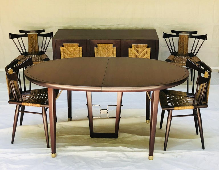 Edmond Spence Mahogany Dining Table Designed for Industria Mueblera, circa 1958 For Sale 3