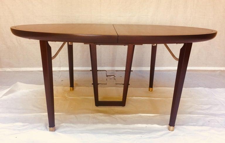 Mid-Century Modern Edmond Spence Mahogany Dining Table Designed for Industria Mueblera, circa 1958 For Sale