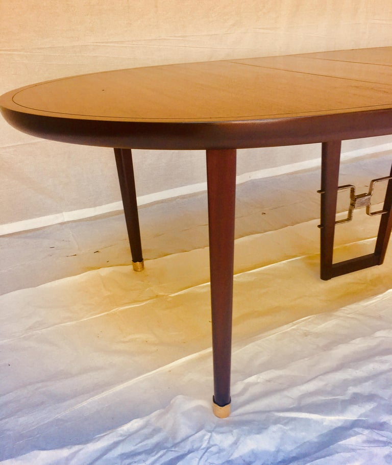 Mexican Edmond Spence Mahogany Dining Table Designed for Industria Mueblera, circa 1958 For Sale