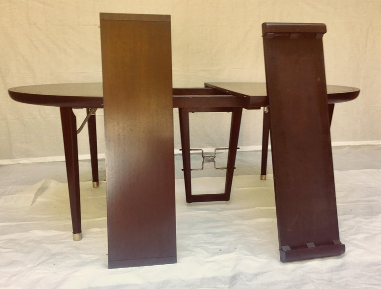Edmond Spence Mahogany Dining Table Designed for Industria Mueblera, circa 1958 In Good Condition For Sale In Camden, ME