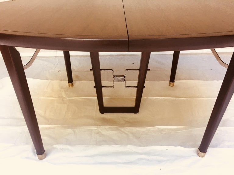 Mid-20th Century Edmond Spence Mahogany Dining Table Designed for Industria Mueblera, circa 1958 For Sale