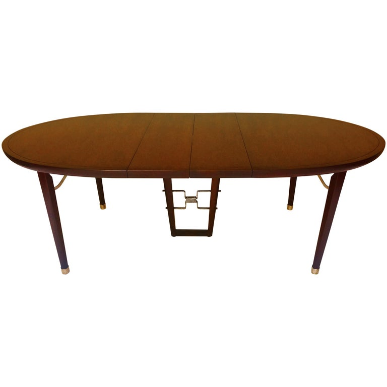 Edmond Spence Mahogany Dining Table Designed for Industria Mueblera, circa 1958 For Sale