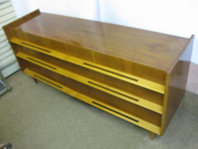 Edmond Spence Mid-Century Modern Long Dresser Walnut & Birch Made In Sweden For Sale 6