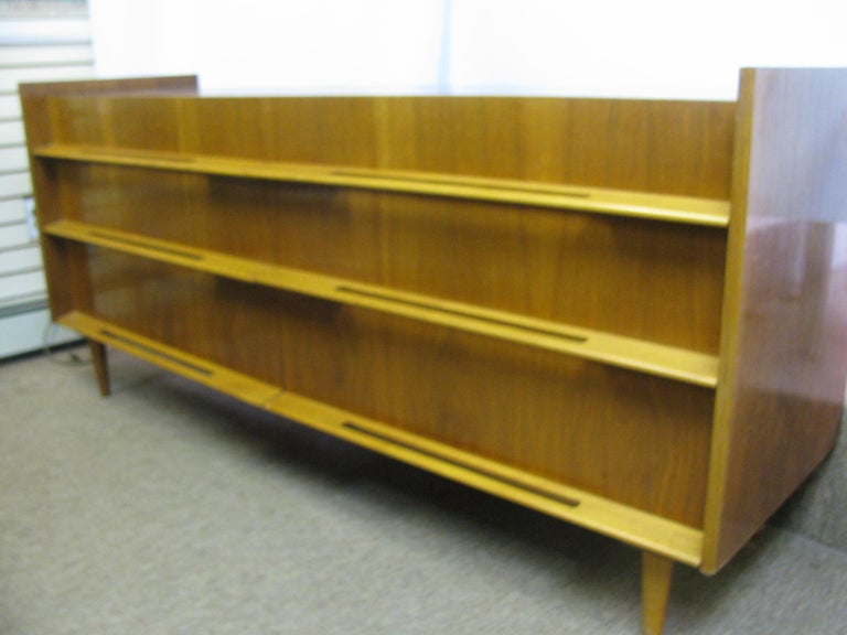 Edmond Spence Mid-Century Modern Long Dresser Walnut & Birch Made In Sweden For Sale 7