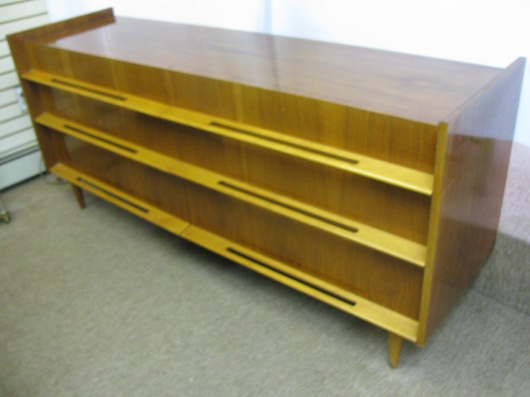 Edmond Spence Mid-Century Modern Long Dresser Walnut & Birch Made In Sweden For Sale 8