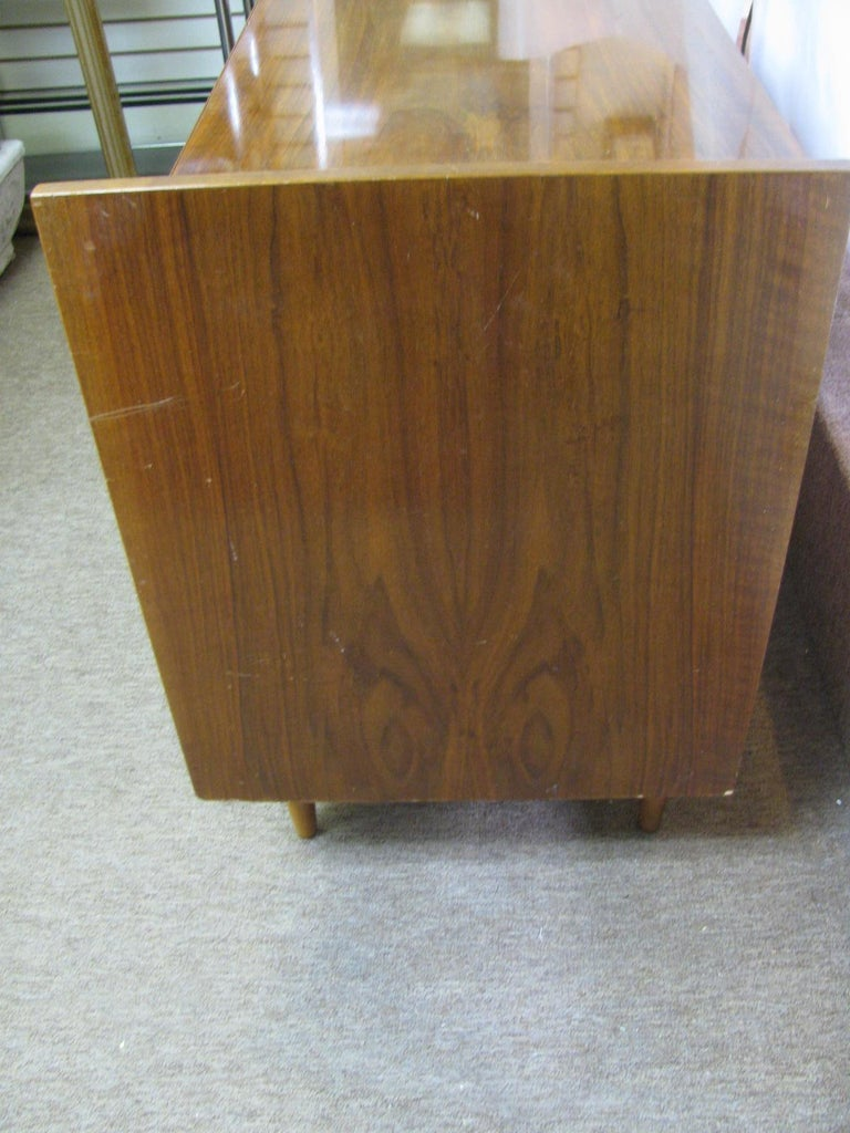 Edmond Spence Mid-Century Modern Long Dresser Walnut & Birch Made In Sweden For Sale 1
