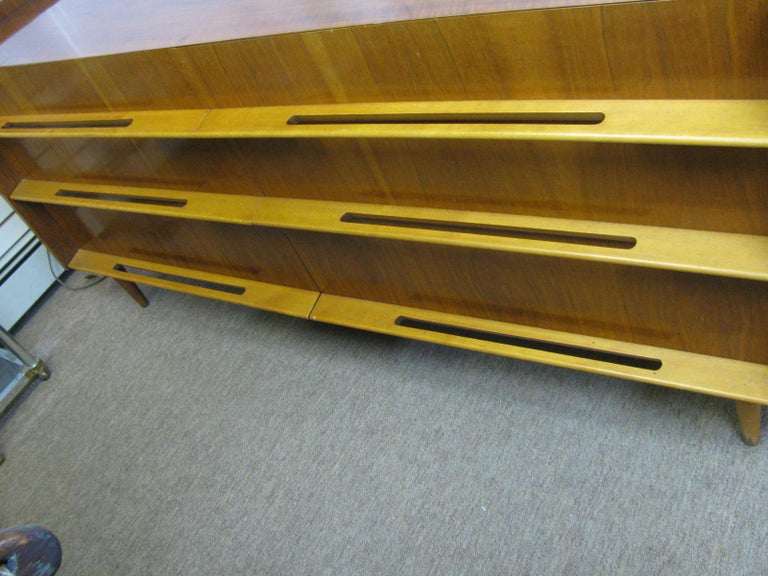 Edmond Spence Mid-Century Modern Long Dresser Walnut & Birch Made In Sweden For Sale 2