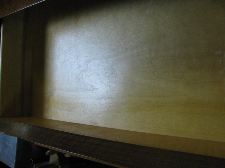 Edmond Spence Mid-Century Modern Walnut and Birch Tall Dresser Made in Sweden For Sale 5