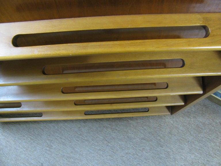 Edmond Spence Mid-Century Modern Walnut and Birch Tall Dresser Made in Sweden For Sale 3