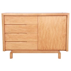 Edmond Spence Swedish Modern Maple Sideboard Credenza, Newly Refinished