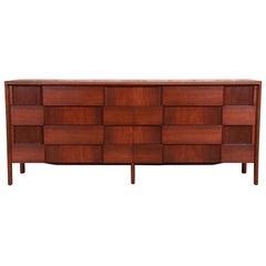 Edmond Spence Swedish Modern Walnut Dresser or Credenza, Newly Refinished
