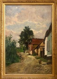 Paysan sur un Chemin, Oil on Canvas