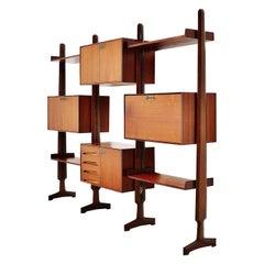 Edmondo Palutari Bookcase for Vittorio Dassi, Italy, 1950