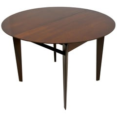 Edmondo Palutari for Dassi Mid-Century Italian Teak Round Dining Table, 1950s