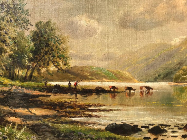 """""""Watering the Cattle"""" - Painting by Edmund Darch Lewis"""