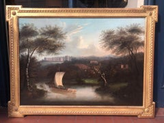 Tranquil 18th Century Painting of Windsor Castle