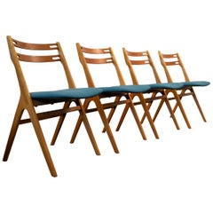 Edmund Jørgensen Model 10 Teak or Oak Danish Design Dining Chairs