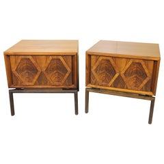 Edmund Spence Designed Walnut End tables or Nightstands