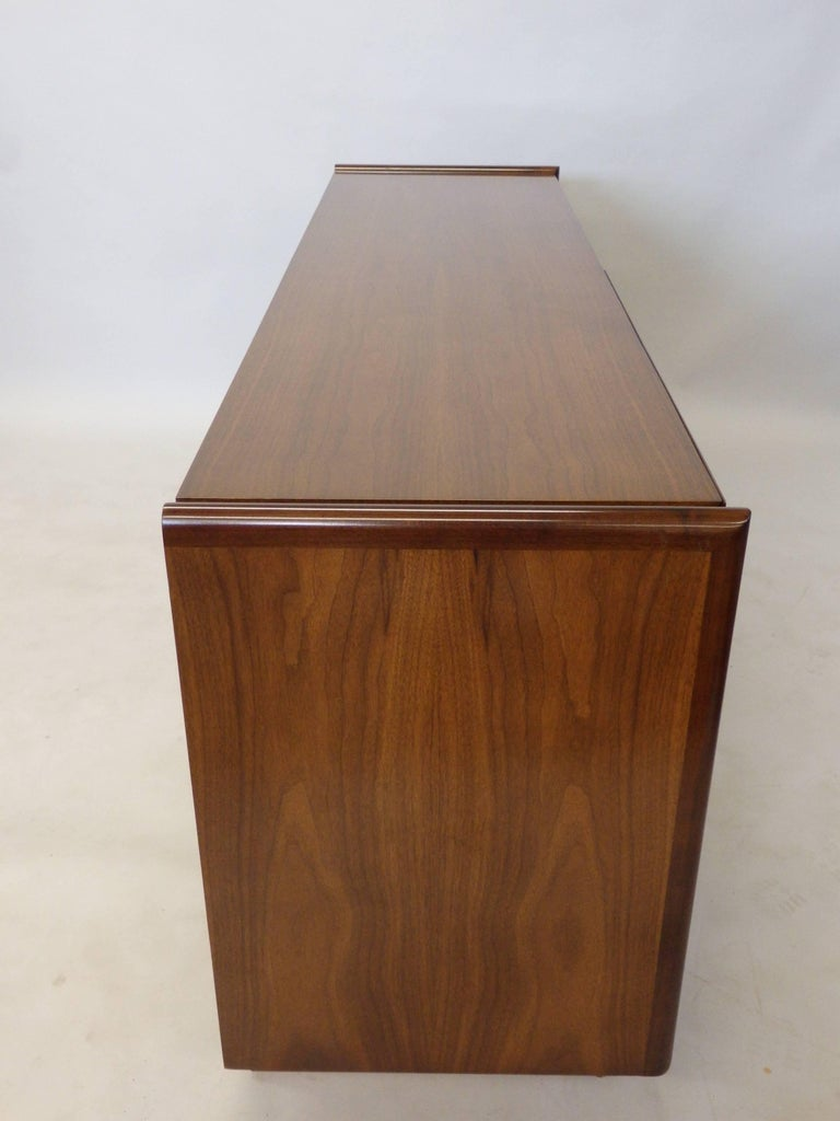 20th Century Edmund Spence Long Low Swedish Double Dresser with graduated drawers For Sale