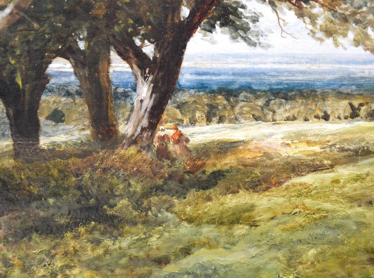 On the South Downs - Large 19th Century English Landscape Oil Painting For Sale 3