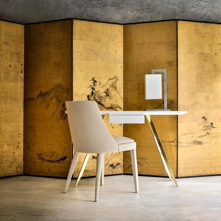 Modern Edo Golden Desk by Bosco Fair For Sale