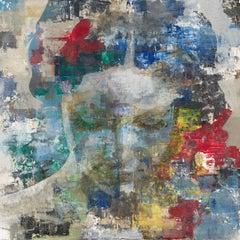 Fame - 21st Century, Contemporary, Figurative-Abstract Portrait, Print, Aluminum