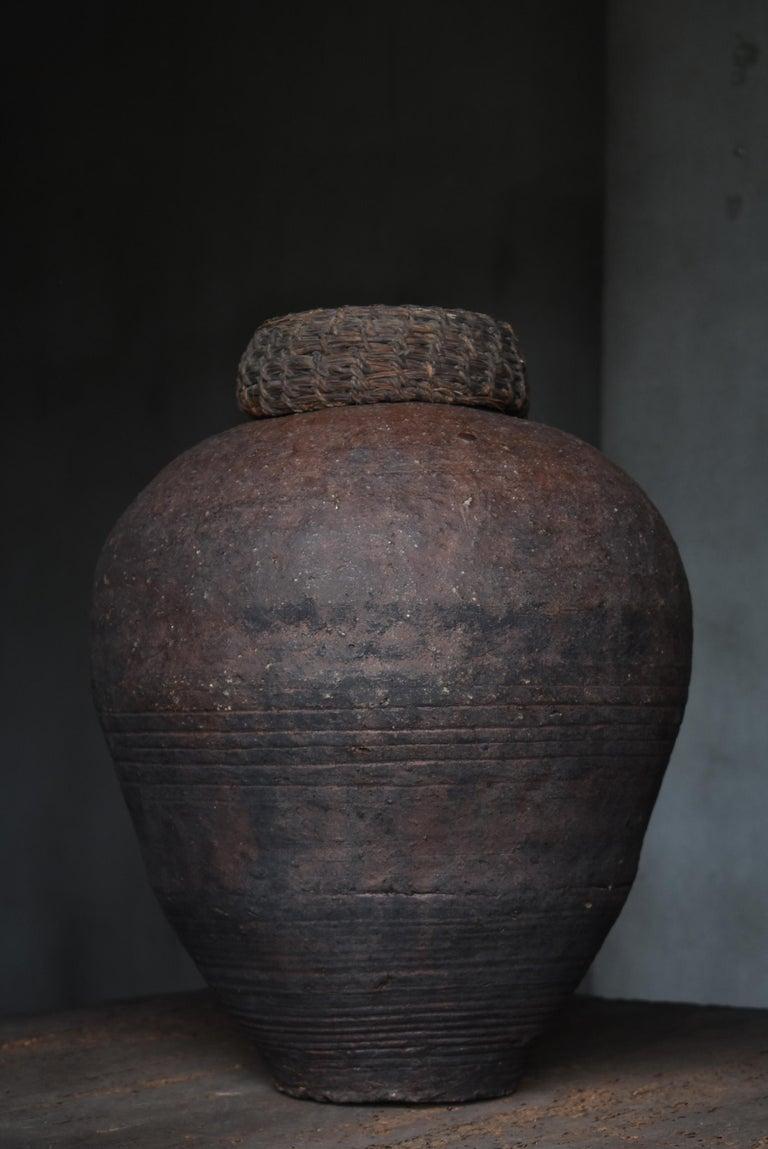 Edo Period 1700-1860 Japanese Tsubo Shigaraki Pottery Vase Pot Jar Ceramic 1
