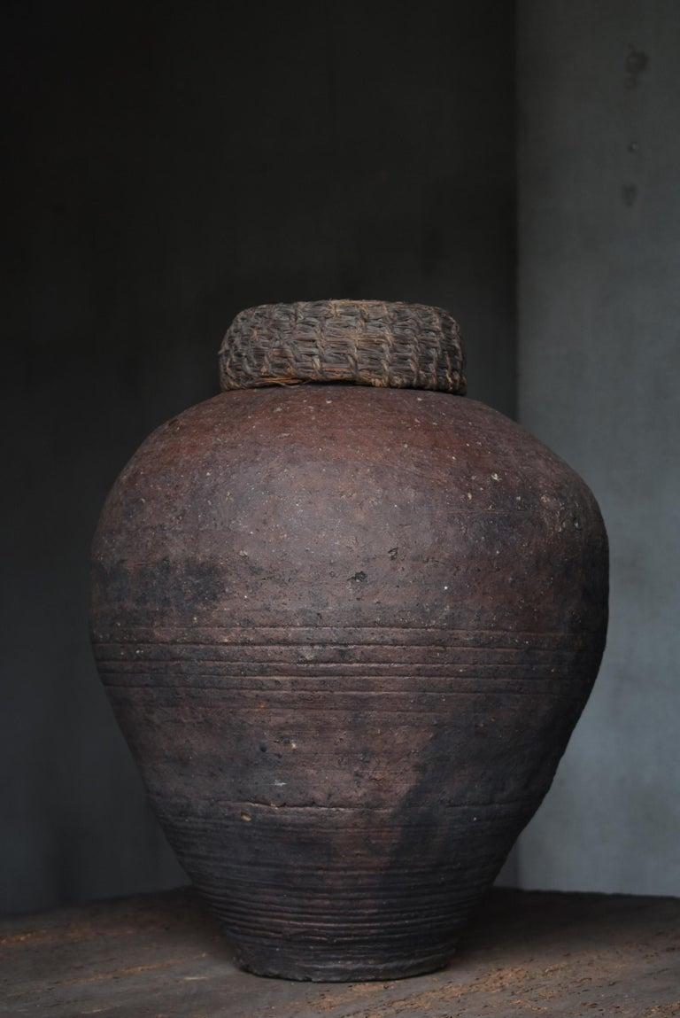 Edo Period 1700-1860 Japanese Tsubo Shigaraki Pottery Vase Pot Jar Ceramic 2