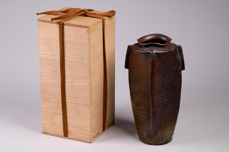 Edo Period Bizen Vase For Sale 1