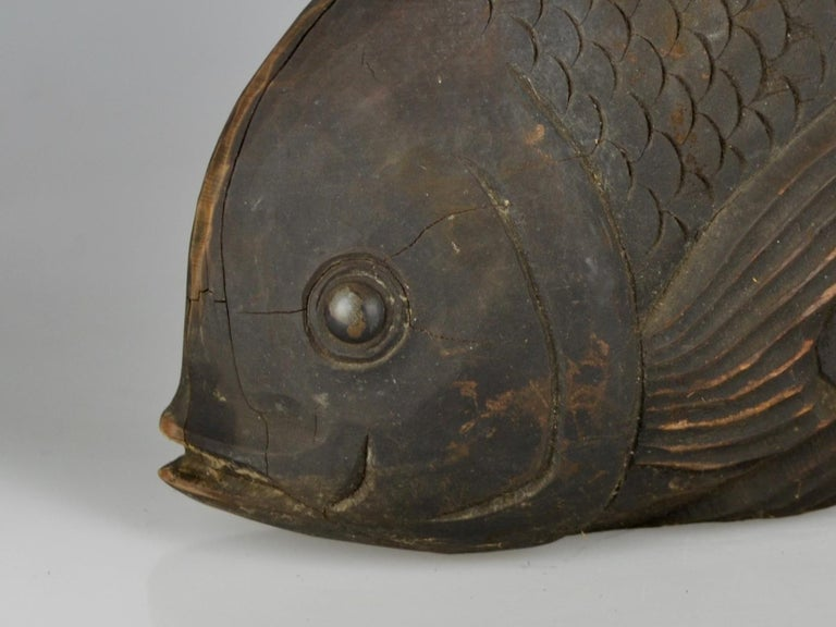 Japanese Edo Period Counterbalance for a Traditional Kettle Hook in Shape of a Sea Bream For Sale