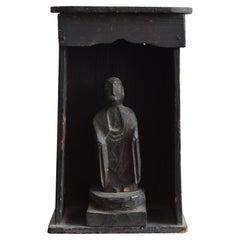 Edo Period in Japan Wooden Buddha Statue / Wood Carving Buddha / 1750-1850