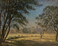 Synphonie blue , Impressionism, Green, Landscape, 19th,Oil  cm. 94 x 74 1889