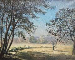 """Synphonie blue "" Oil  cm. 94 x 74 1889"