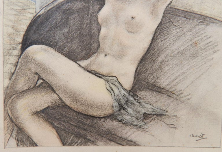 Edouard Chimot Nude Lithograph Print c1936 Art Deco Erotica  For Sale 2