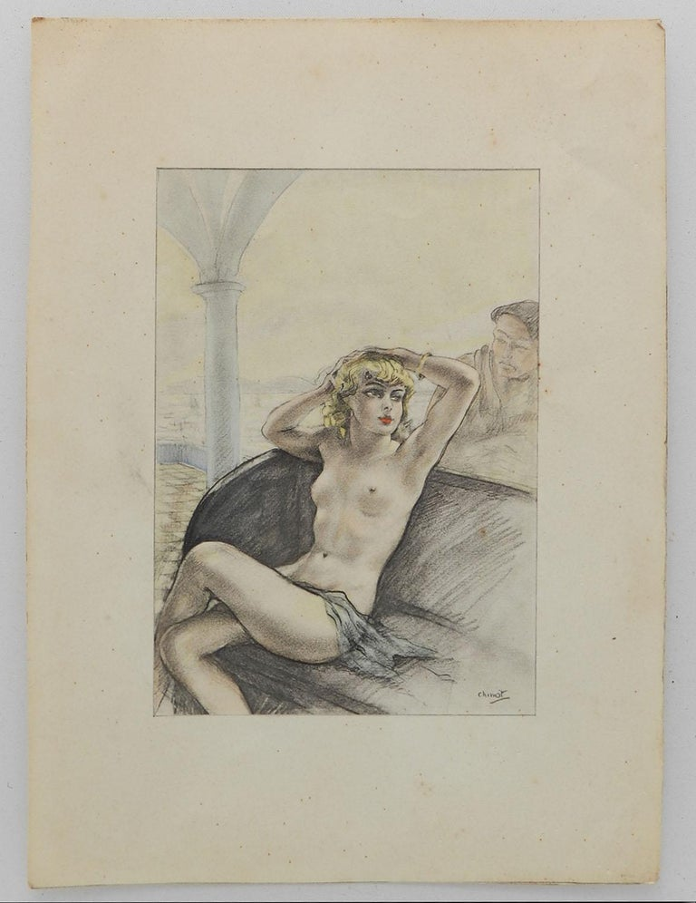 Edouard Chimot Nude Lithograph Print c1936 Art Deco Erotica  For Sale 7