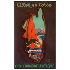 Edouard Collin Vintage Travel Poster Transatlantique