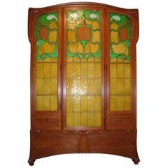 "Edouard Colonna Art Nouveau Paris ""Bibliotheque Victor Hugo"" Cabinet"