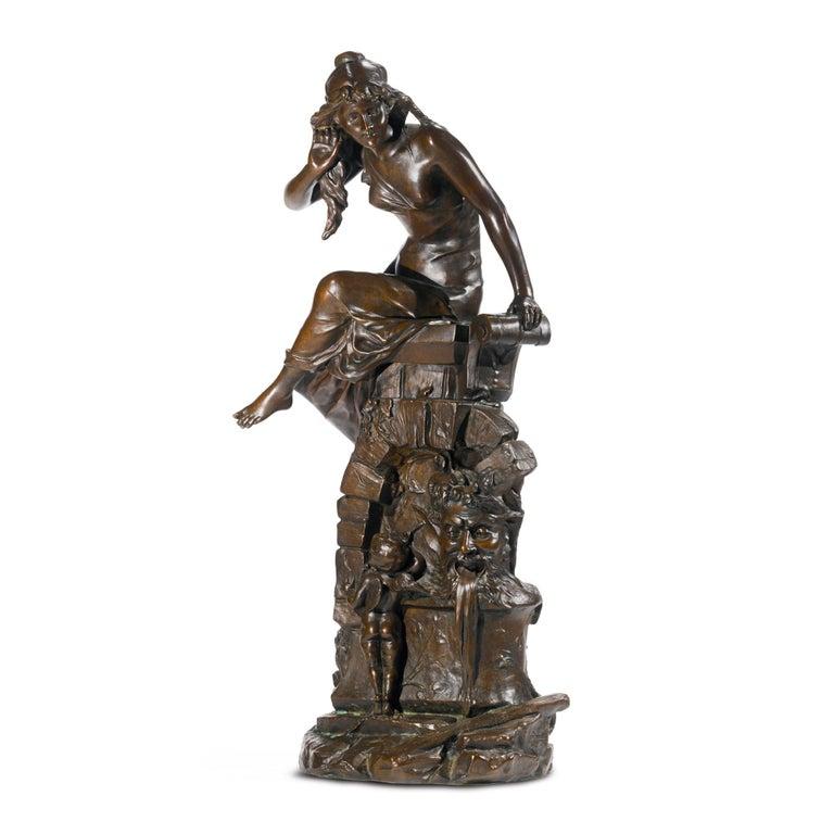 Edouard Drouot Figurative Sculpture - Le Secret